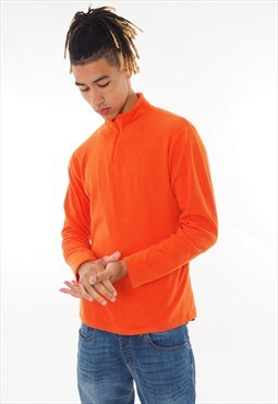 Vintage Champion 1/4 Zip Fleece Orange