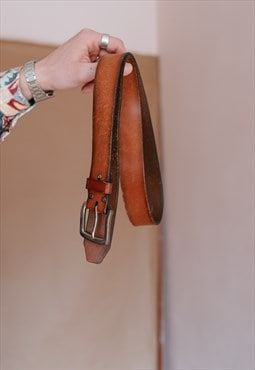 VIntage 90s brown leather belt