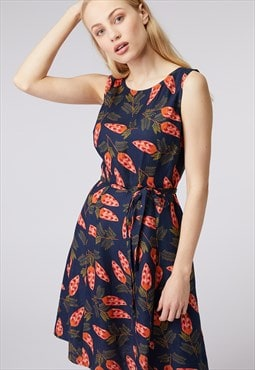 Princess Highway Navy Pinecone Print Dress