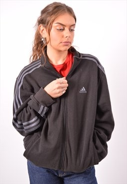 Vintage Adidas Tracksuit Top Jacket Black