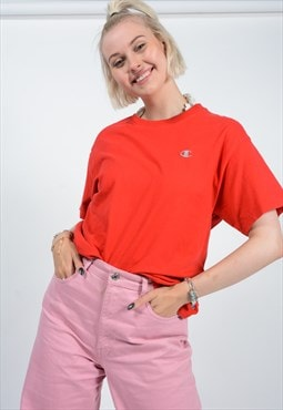 Vintage Champion 90s T-shirt Red