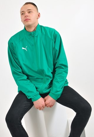 VINTAGE 90'S PUMA TRACK JACKET IN GREEN