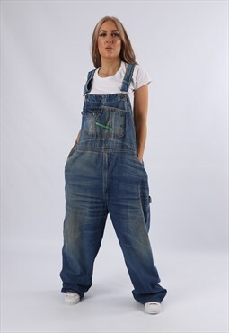 Vintage KEY Denim Dungarees PLUS SIZE UK 22 4XL (E75I)