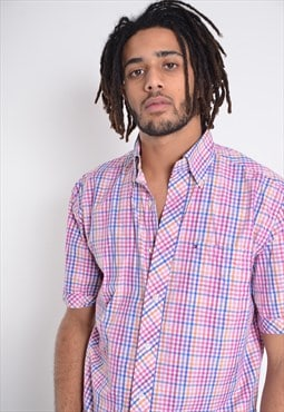 Vintage Tommy Hilfiger Short Sleeve Check Shirt Pink