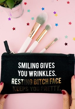 Resting Bitch Face Keeps You Pretty Make Up Bag