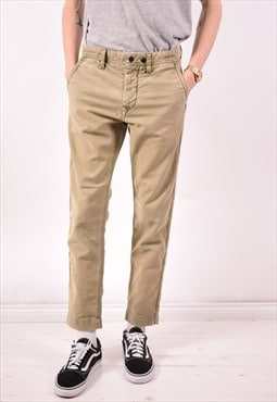 Replay Mens Vintage Jeans W29 L29 Khaki 90s