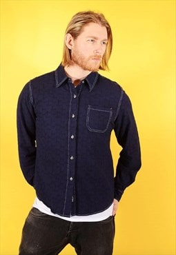 Vintage Lee Embroidered Shirt Navy