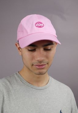 Vintage NASA Baseball Trucker Cap in Pink with Logo