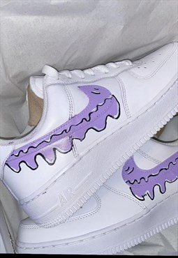 Lilac Purple Drip Custom Airforce 1's