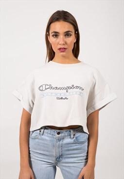 Vintage 90s Reworked Champion Crop Sweatshirt / S9156