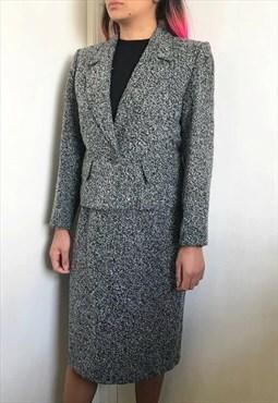 Vintage 80s Yves Saint Laurent Tweed Suit Made In France