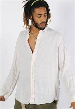 Vintage Polo Ralph Lauren Linen Shirt White