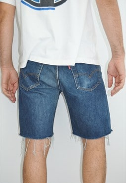 Vintage Distressed Levi's 501 Denim Shorts made in USA