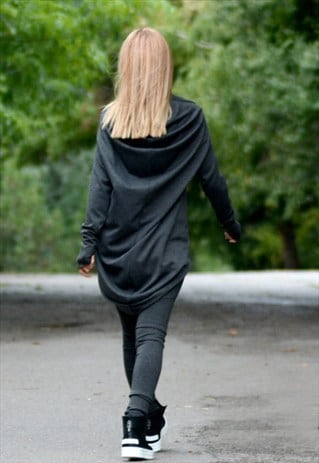GREY EXTRA LONG LEGGINGS WITH TUNIC/ASYMMETRIC TUNIC