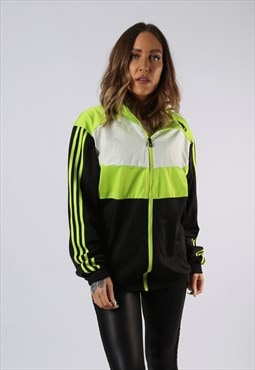 Vintage ADIDAS Track Top Jacket Oversized NEON UK 14 (O3I)
