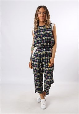 Jumpsuit Print FRUIT Patterned Vintage 3/4 Length UK 8 (LG3I