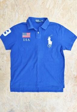 Vintage 90s RALPH LAUREN USA Flag Polo Shirt
