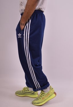 Adidas Mens Vintage Tracksuit Trousers XL Navy Blue 90s