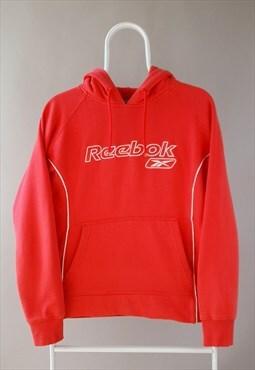 Vintage Reebok hoodie sweatshirt spellout pink white 90s