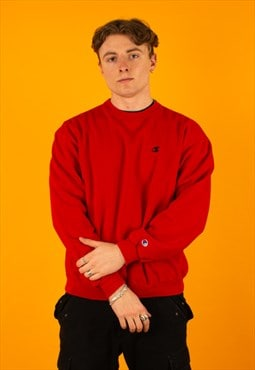Vintage 90s Red Champion Sweatshirt Crewneck