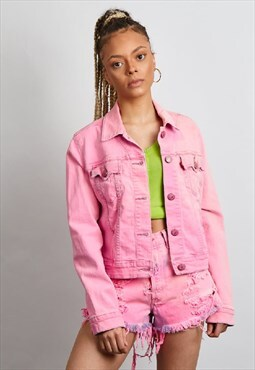 Vintage 90's Levi's reworked neon pink co-ord set