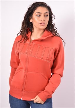 Vintage Puma Hoodie Sweater Orange