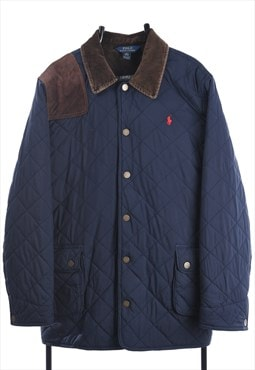 Vintage Polo Ralph Lauren Quilted Jacket in Blue & Brown