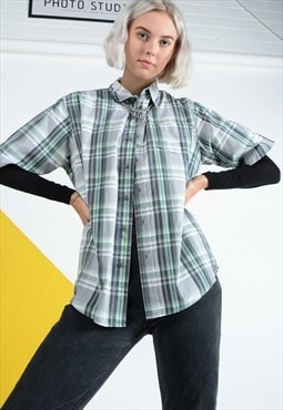 Lee Reworked Checked Shirt with short sleeves