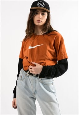 Vintage Orange NIKE Swoosh Tee Shirt
