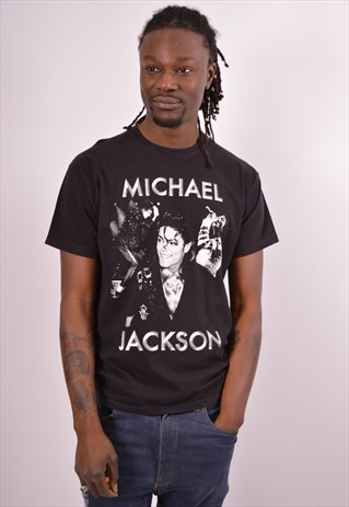 Vintage Michael Jackson T-Shirt Top Black