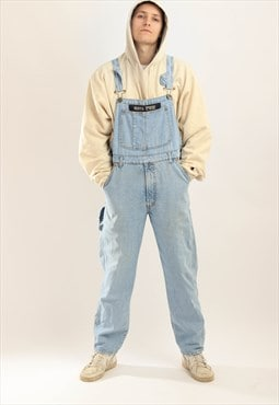 Vintage Weipper Denim Dungaress Blue