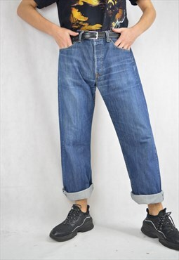 Vintage blue denim Levi's 501 straight Jeans trousers