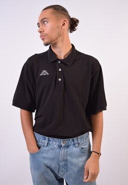 Vintage Kappa Polo Shirt Black