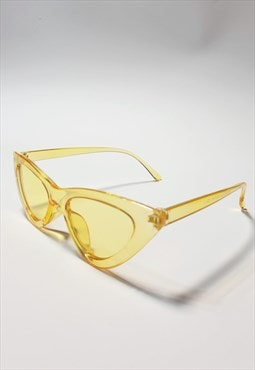 Cat Eye Tinted Sunglasses in Yellow