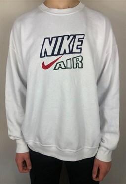 Nike Air Classic Bootleg White Jumper (XL)