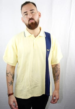 Vintage Yellow Nike Sport Polo Logo Embroidered
