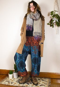 Fairtrade Blue Mandala Hippie Harems Trousers