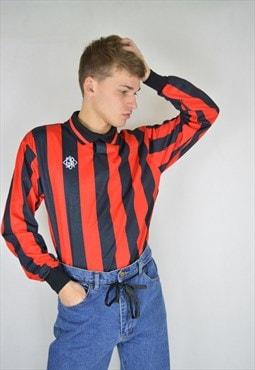 Vintage striped two colour rave sports shirt
