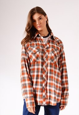 Vintage Woolrich Check Flannel Shirt Red