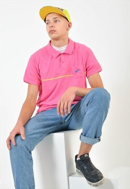 Vintage NIKE polo shirt in pink