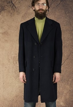 Vintage mens simple very soft cashmere coat
