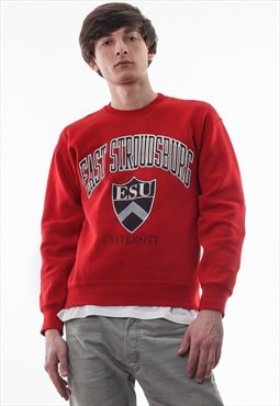 Vintage JANSPORT East Stroudsburg Crew Neck 90s Red