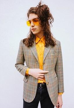 Vintage Colourful Plaid Wool Jacket