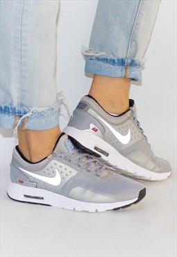 Silver & Red Air Max Zero Trainers