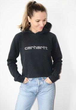 Vintage 90s CARHARTT Spell Out Logo Sweatshirt Hoodie
