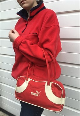 Womens Vintage 90s Puma bag sportswear red handbag purse