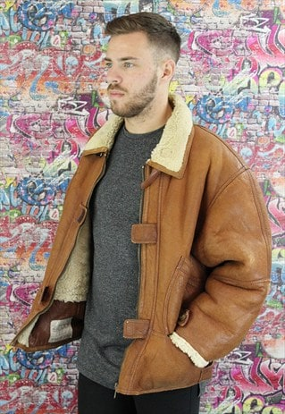 VINTAGE AVIATOR/FLYING JACKET. SHEARLING SHEEP SKIN. UNISEX.