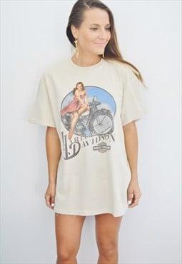 Rare 80s HARLEY-DAVIDSON Vintage T-shirt
