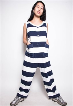 Vintage 90s Striped Jumpsuit ID:2122