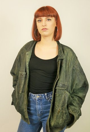 VINTAGE LEATHER SOFT BOMBER JACKET